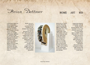 Screenshot of Brian Dettmer site