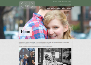 Screenshot of Claire and David site