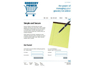 Screenshot of Grocery Power site