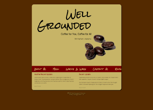 Screenshot of Well Grounded site